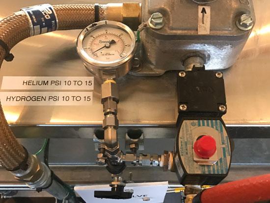 Fill valve detail